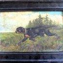 Arte: EL CAZADOR. ÓLEO/TABLA SIGLO XIX. FIRMADO JUAN FRANCÉS. 1892. Lote 43599912