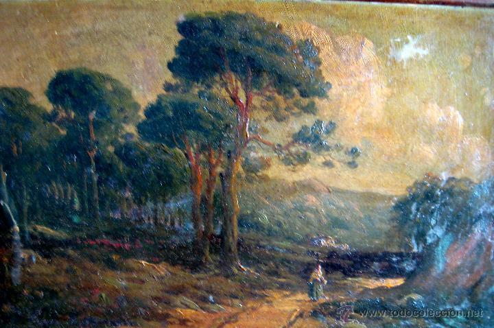 Arte: PERE NAVARRO ESCUDER. PAISAJE RURAL. ÓLEO/CARTÓN FIRMADO P. ESCUDER CA. 1900 - Foto 3 - 43602612