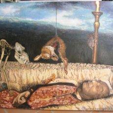 Arte: PINTURA FIGURATIVA CONTEMPORÁNEA RETRATO ENTIERRO DE SALVADOR DALÍ. Lote 43715256