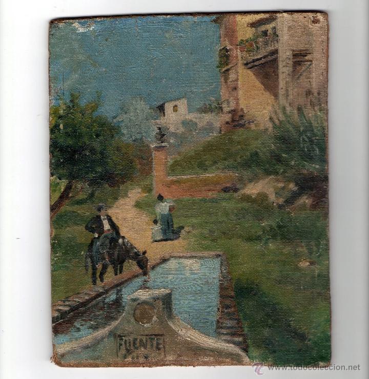 óleo Sobre Tabla Paisaje Andaluz Costumbrista Sold Through Direct Sale 43748139