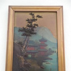 Arte: PINTURA ORIENTAL EN TABLA. Lote 43750461