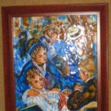 Arte: PRECIOSO ESMALTE REPRODUCCIÓN DE P.A. RENOIR.. Lote 43838065