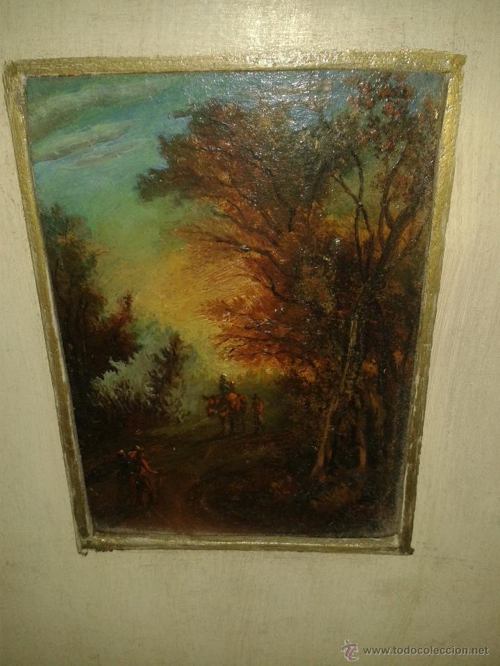 MINIATURA AL OLEO S XIX. (Arte - Pintura - Pintura al Óleo Moderna siglo XIX)