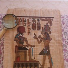 Arte: PAPIRO EGIPTO DE LOS AÑOS 90 - ORIGINAL PINTADO A MANO - ESCUELA EGIPCIA. Lote 43878410