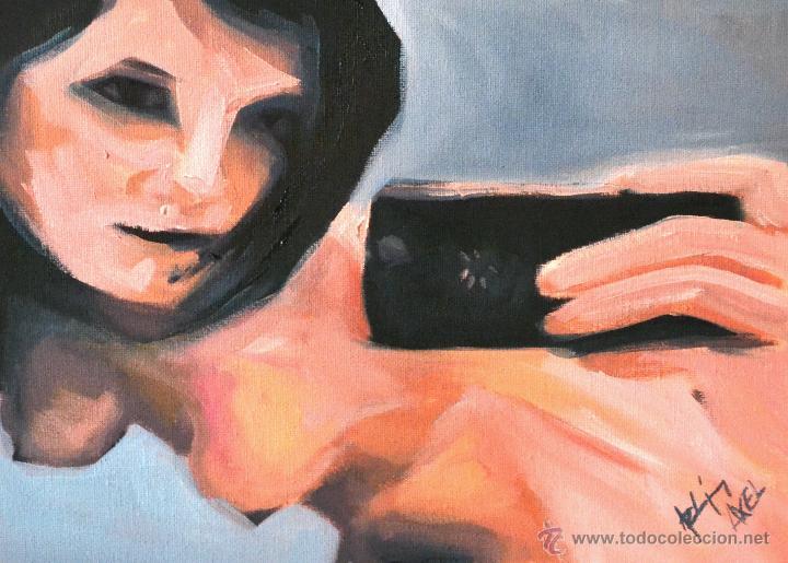 PINTURA AL ÓLEO S/ TELA ( AXEL RODRÍGUEZ) 30 X 40 CM (Arte - Pintura Directa del Autor)