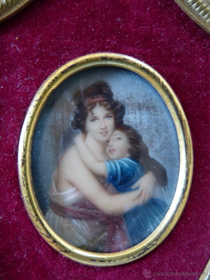 miniatura de madre e hija al oleo con marco de - Comprar Pintura al ...