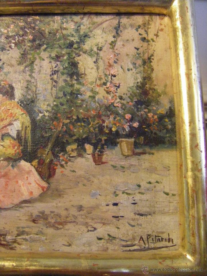 Leo en lienzo escena espa ola del pintor vale comprar - Pintor valenciano ...