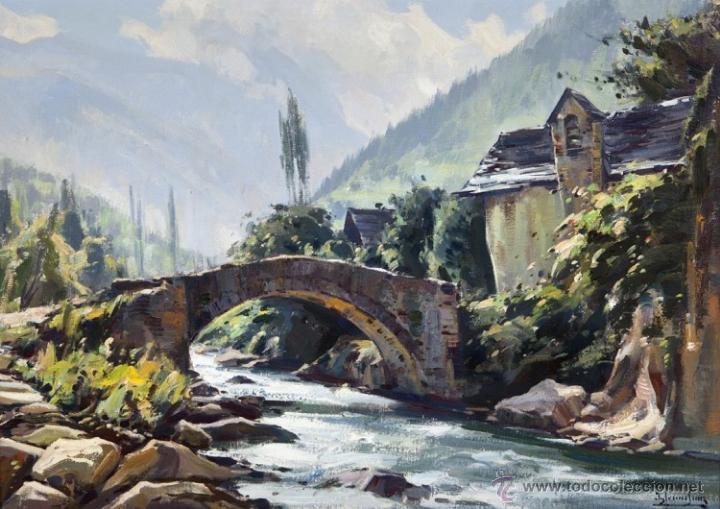 Asturias oviedo gij n paisaje antonio iglesia comprar - Pintores en gijon ...