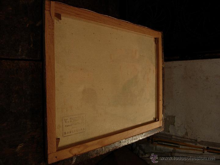Pintura paisaje antigua oleo sobre lienzo sobr comprar - Lienzo sobre bastidor ...