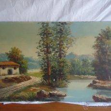 Arte: PINTURA AL OLEO SOBRE TABLEX PINTOR MURCIANO M. PEREZ SAURA- PAISAJE MURCIANO 1950. Lote 44117110