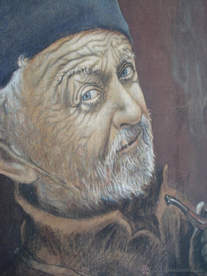 Arte: Antiguo Óleo ¨Marino de Birrete fumando pipa¨ Firmado Havans Medida 60x40 Tela Tandil Circa 1960 - Foto 5 - 44117159
