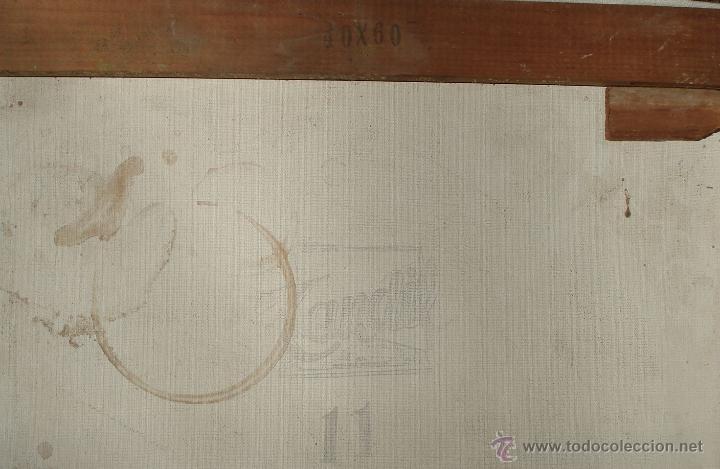 Arte: Antiguo Óleo ¨Marino de Birrete fumando pipa¨ Firmado Havans Medida 60x40 Tela Tandil Circa 1960 - Foto 7 - 44117159