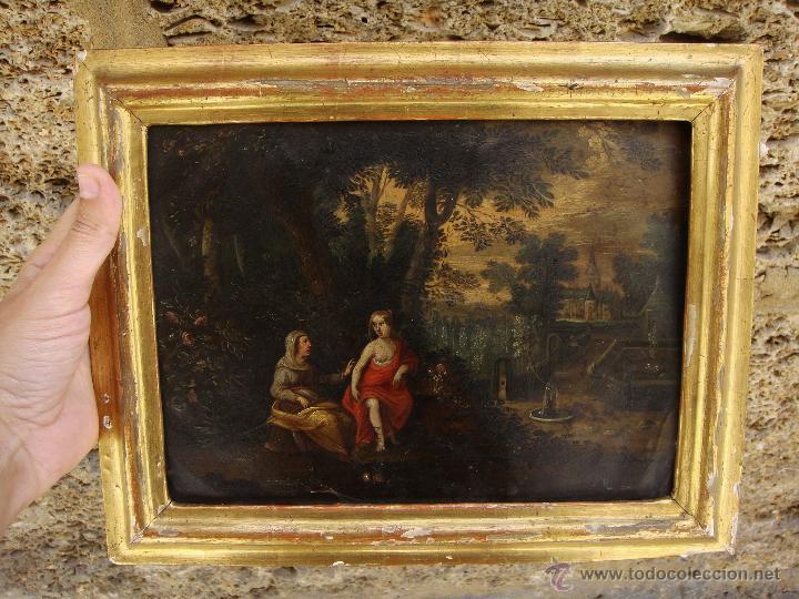 oleo sobre cobre. s.xvii. marco de madera estuc - Comprar Pintura al ...