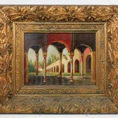 Arte: INTERIOR MORUNO, FECHADO EN 1888. FIRMADO: VEHTAM. ÓLEO SOBRE TABLA 16X21CM. MARCO:32X37CM.. Lote 44162543