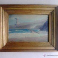 Arte: PLAYA CON GAVIOTAS - OLEO SOBRE LIENZO. Lote 39230731
