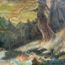 Arte: PAISAJE DE MONTAÑA. OLEO/LIENZO FIRMADO O. P. PULIDO, FECHADO EN 1925.. Lote 44261469
