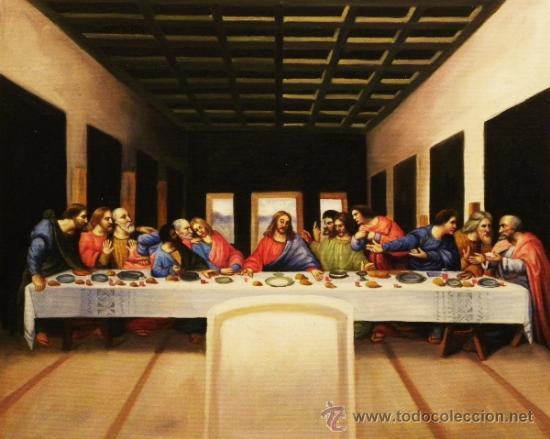 Cuadro Pintado Al Oleo Leonardo Da Vinci La Ult Sold Through