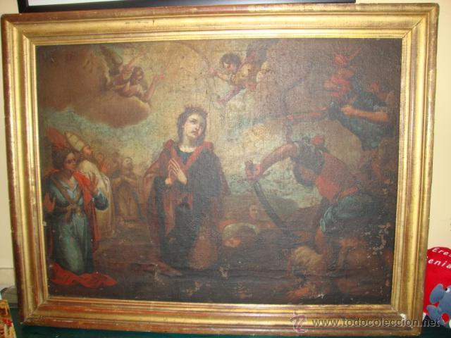 OLEO SOBRE LIENZO SIGLO XVII (Arte - Pintura - Pintura al Óleo Antigua siglo XVII)