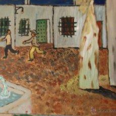 Arte: LOS FANTASMAS , ÓLEO SOBRE TABLA DE 30X40 CM. DE CRESPO. Lote 44308756