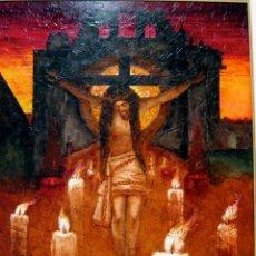 Arte: ANTONI BARINGO. TARRAGONA. CRISTO DE LA SANGRE. ÓLEO ORIGINAL. Lote 44327869