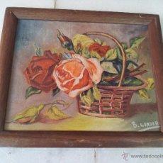 Arte: CUADRO OLEO LIENZO BODEGÓN FLORES FIRMADO B. CORDERO. Lote 44354369