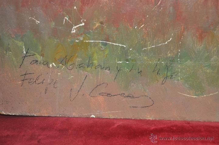 Arte: JAIME CASAS. OLEO SOBRE TABLEX. REPRESENTANDO UN PAISAJE - Foto 2 - 44367941