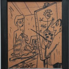 Arte: PICASSO EN EL STUDIO - FIRMADO. Lote 44368791