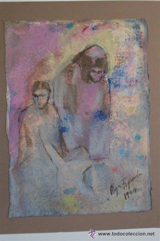OLGA FIGUEROLA (BARCELONA, 1963). TÉCNICA MIXTA. ACUARELA Y TINTA. (Arte - Pintura - Pintura al Óleo Contemporánea )