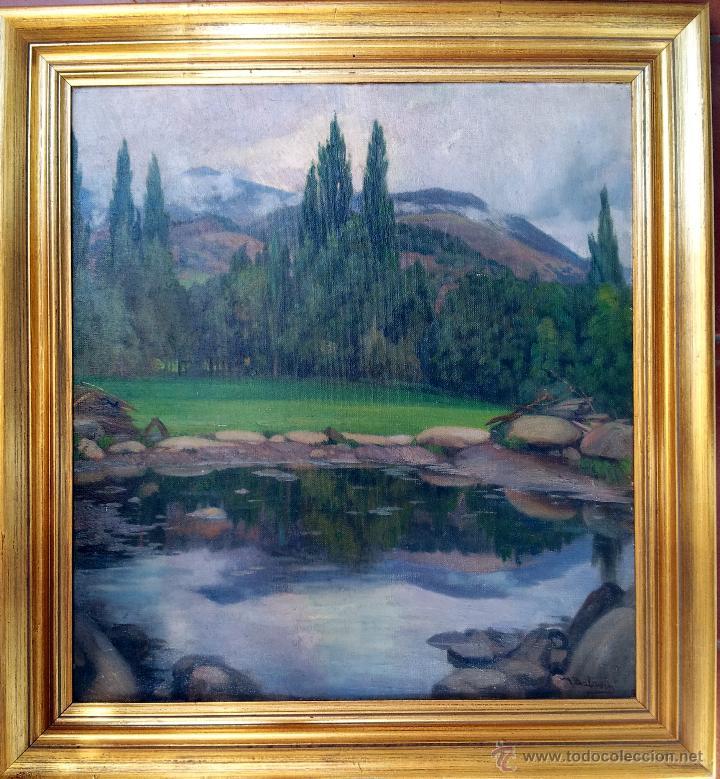 MATEO BALASCH (1870-1936). PAISAJE (Arte - Pintura - Pintura al Óleo Moderna siglo XIX)