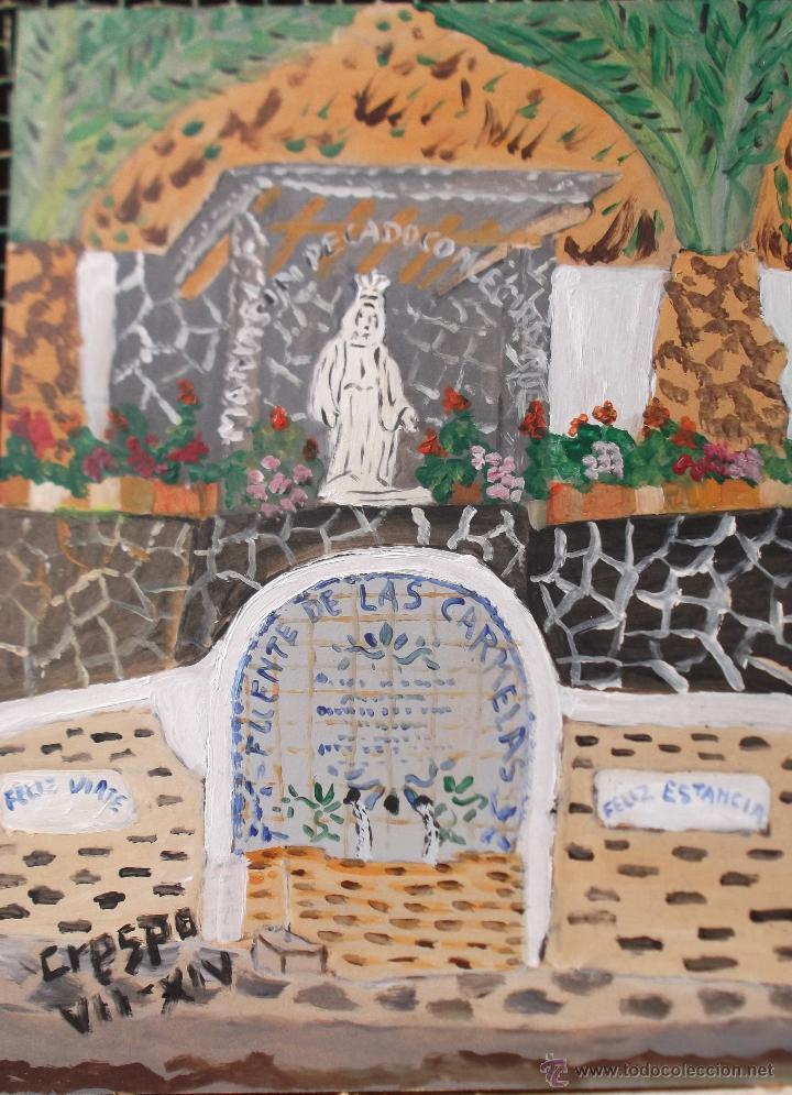 ALPUJARRA BERCHULES,ACRÍLICO SOBRE TABLA 30X40 CM. DE CRESPO (Arte - Pintura Directa del Autor)
