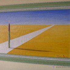Arte: PINTURA EL CAMINO DE ITZIAR BARRIO ARTE CONCEPTUAL - IDEA ART -. Lote 44723658