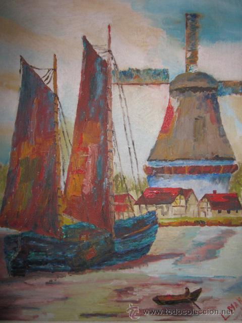 Arte: cuadro oleo impresionista firmado - Foto 2 - 44771203