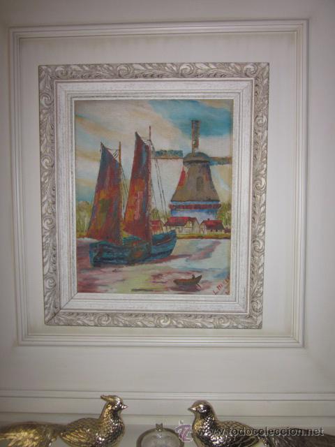 Arte: cuadro oleo impresionista firmado - Foto 4 - 44771203