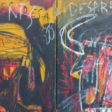 Arte: JACK BABILONI - TIENES DESARREGLOS - DIPTICO DE GRAN FORMATO ACRILICO SOBRE LIENZO. Lote 44888265