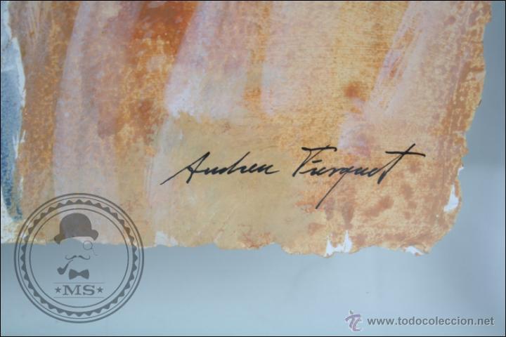 Arte: Pintura al Óleo / Acrílico de J. Andreu Fresquet - Jugadores de Baloncesto. Joventut - 76 x 61 Cm - Foto 6 - 45063661