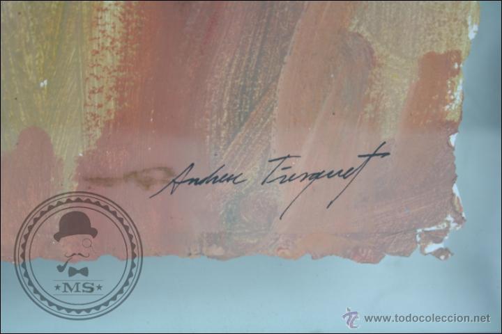 Arte: Pintura al Óleo / Acrílico de J. Andreu Fresquet - Jugadores de Baloncesto. Joventut - 76 x 61 Cm - Foto 3 - 45063722