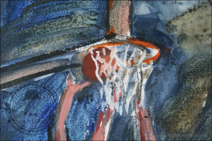 Arte: Pintura al Óleo / Acrílico de J. Andreu Fresquet - Jugadores de Baloncesto. Joventut - 76 x 61 Cm - Foto 5 - 45063722