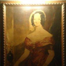 Arte: IMPRESIONANTE OLEO SOBRE LIENZO DE DAMA DE CORTE S. XIX CALIDAD Y GRAN TAMAÑO. Lote 45184580