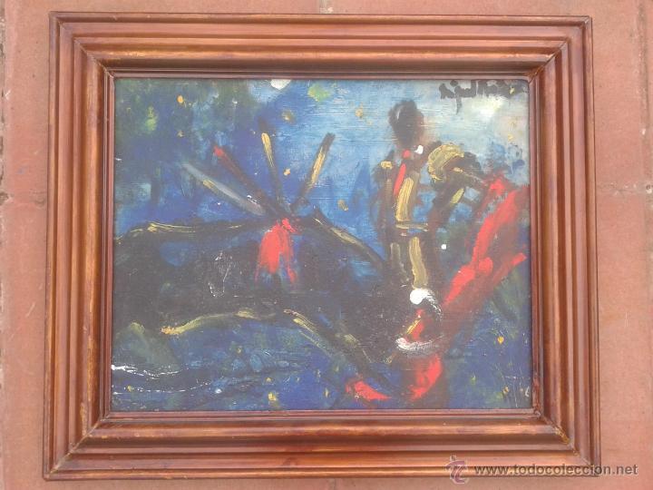 MIGUEL FUSTER (BARCELONA, 1944) - OLEO SOBRE TELA - ENMARCADO 52 X 43 (Arte - Pintura - Pintura al Óleo Contemporánea )