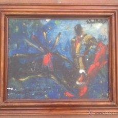 Arte: MIGUEL FUSTER (BARCELONA, 1944) - OLEO SOBRE TELA - ENMARCADO 52 X 43. Lote 45228813