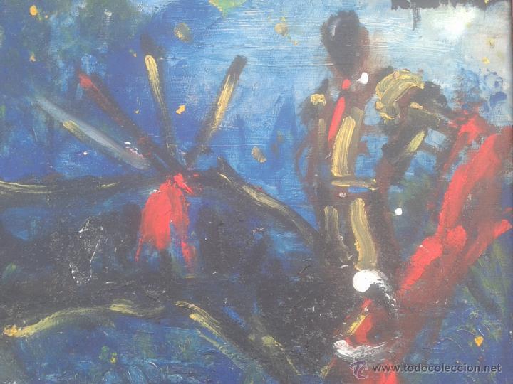 Arte: MIGUEL FUSTER (BARCELONA, 1944) - OLEO SOBRE TELA - ENMARCADO 52 X 43 - Foto 2 - 45228813