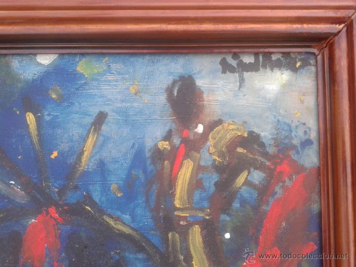 Arte: MIGUEL FUSTER (BARCELONA, 1944) - OLEO SOBRE TELA - ENMARCADO 52 X 43 - Foto 3 - 45228813