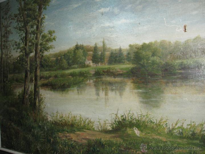 Arte: OLEO SOBRE LIENZO PAISAJE, FIRMADO Y FECHADO 1891. HABELBERCHT FIRMA ALGO ILEGIBLE - Foto 4 - 45238248