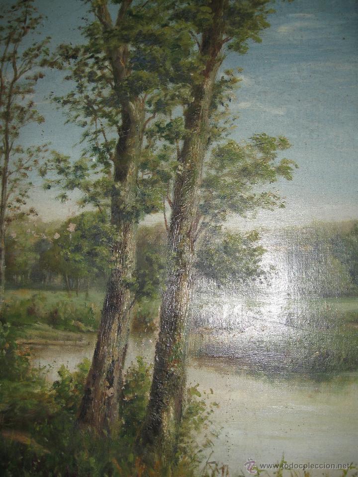 Arte: OLEO SOBRE LIENZO PAISAJE, FIRMADO Y FECHADO 1891. HABELBERCHT FIRMA ALGO ILEGIBLE - Foto 6 - 45238248