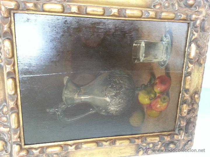 Arte: Cuadro, pintura; Bodegón; oleo sobre tabla, - Foto 2 - 45259067