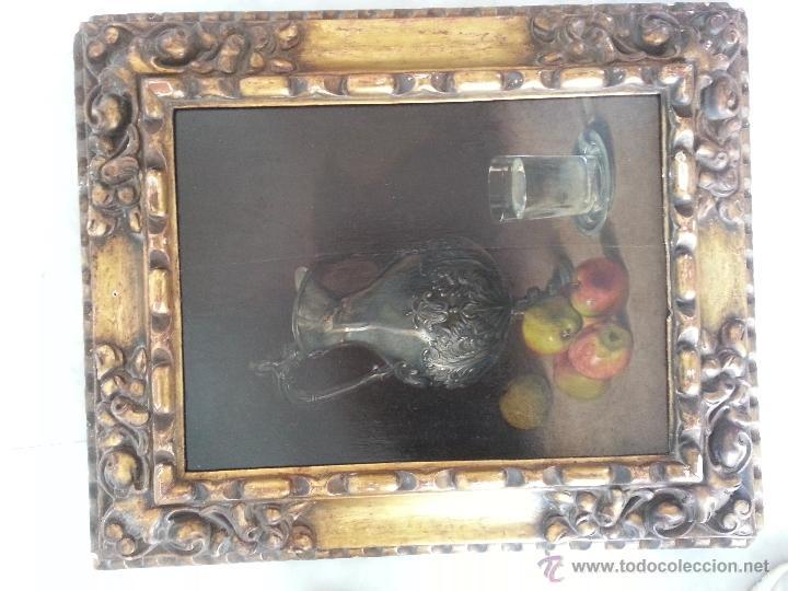 Arte: Cuadro, pintura; Bodegón; oleo sobre tabla, - Foto 3 - 45259067