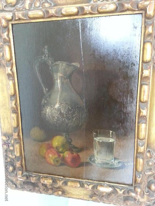 CUADRO, PINTURA; BODEGÓN; OLEO SOBRE TABLA, (Arte - Pintura - Pintura al Óleo Antigua sin fecha definida)