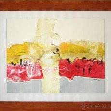 Arte: BERNARDO GUERRA - CUADRO ABSTRACTO, ACRÍLICO SOBRE PAPEL. ENMARCADO 45X55 CM. Lote 45295488