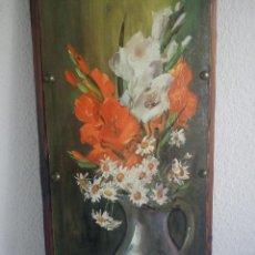Arte: MAGNIFICO CUADRO EN MADERA PINTADO A OLEO TIENE SINATURA DEL PINTOR. Lote 45299220