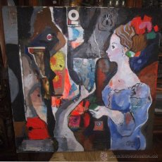 Arte: M. TORNER DE SEMIR -TÉCNICA MIXTA SOBRE TELA, 81X81CM, OBRA ORIGINAL CON CERTIFICADO DEL AUTOR. Lote 45307825